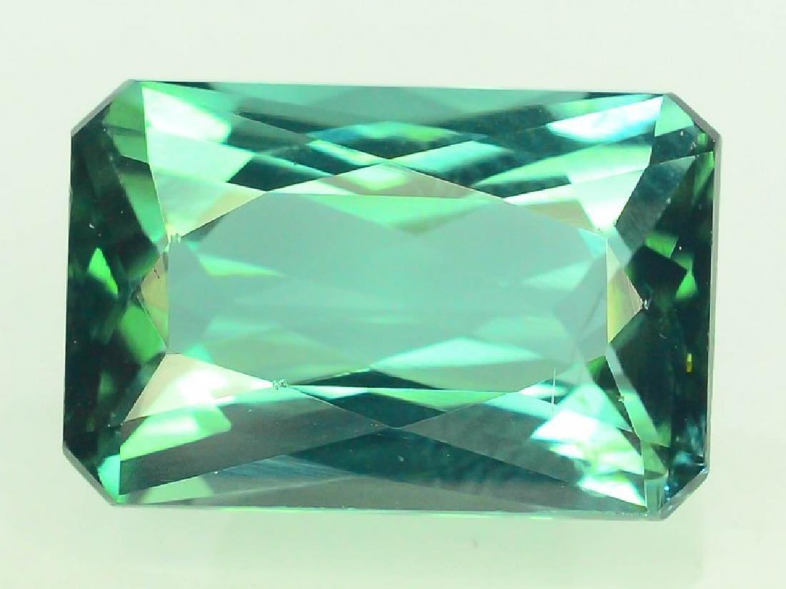 3.95 cts indecolite tourmaline gemstone