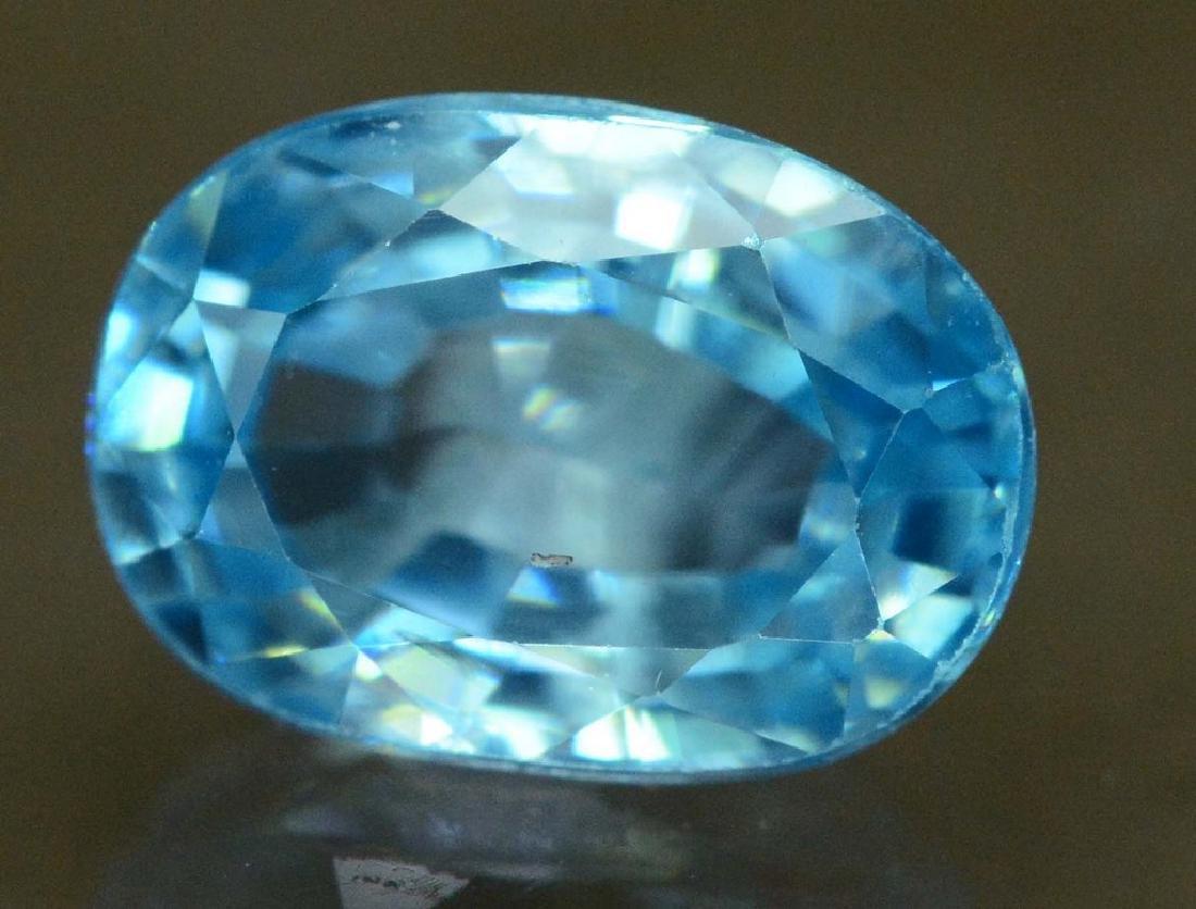 Natural Blue Zircon Loose Gemstone
