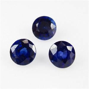 1.00 Carat 3 Loose Vivid Blue Sapphire Necklace Set