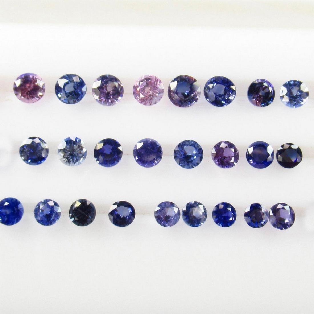 4.72 Carat 32 Loose Unheated Blue Sapphire Round Lot