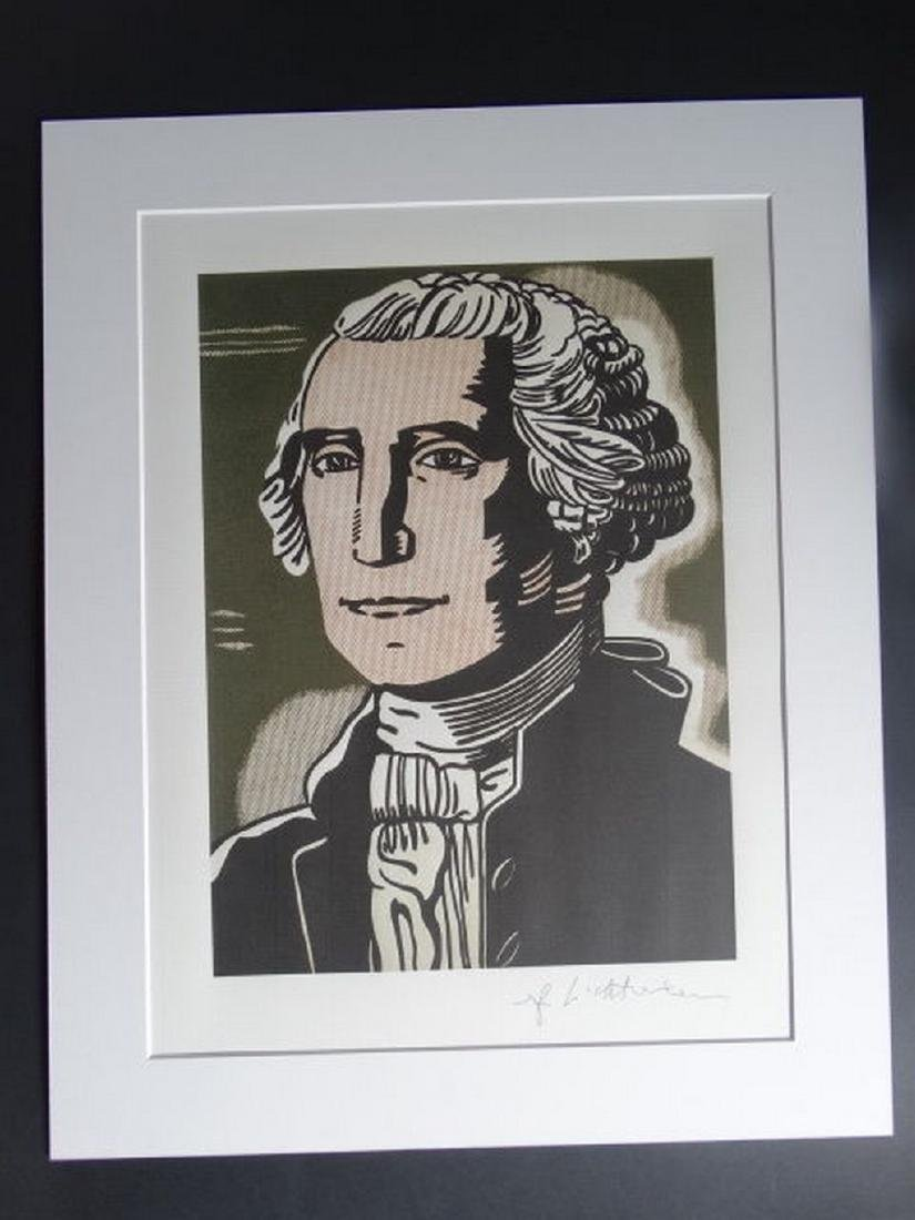 Roy Lichtenstein, After George Washington Print