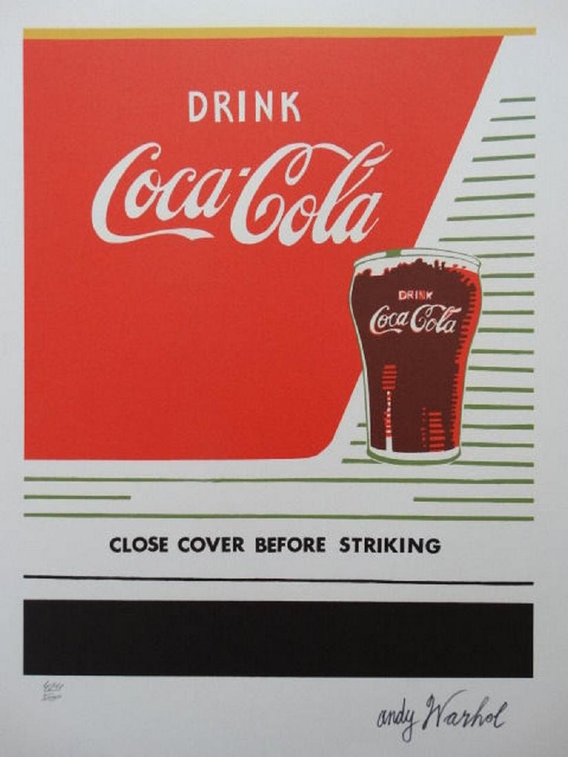 Andy Warhol Coca- Cola Lithograph