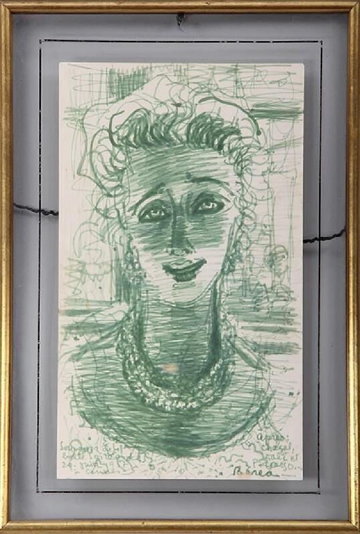 1952 Carlos Baera Work On Paper