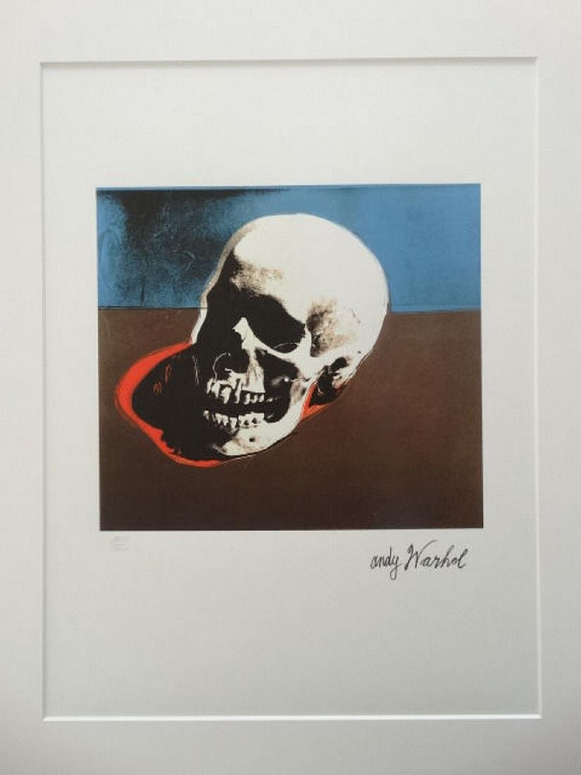 Andy Warhol Skull Limited Edition Lithograph