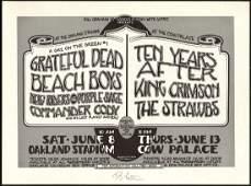Signed Grateful Dead Bill Graham Poster