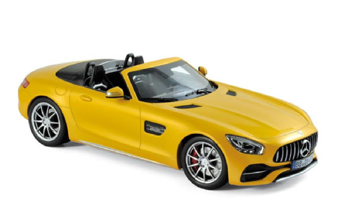 1/18 Scale Mercedes benz AMG-GT-C Roadster - yellow