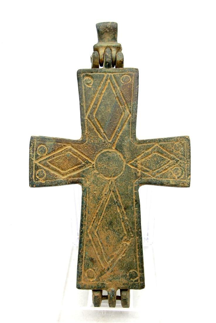 Medieval Crusader Knights Templar Bronze Cross Pendant