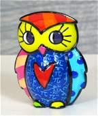 Romero Britto: Little Owl Pop Art statue