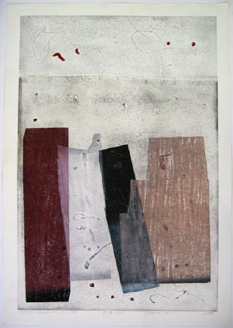 Hideo Hagiwara Woodblock Memory No.17