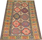 Antique Caucasian Kazak Shirvan Gendje Rug 4.5x7.8