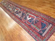 Antique Caucasian Lenkoran Kazak Shirvan Rug 3x17.8