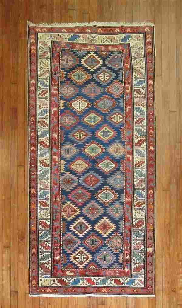 Antique Caucasian Kazak Shirvan Rug Runner 3.5x7