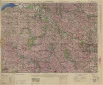 Normandy/Ile de France. WWII pre-D-Day military map
