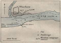 Wuchow/WUZHOU. China. WW2 ROYAL NAVY INTELLIGENCE MAP,