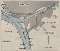 Canton harbour. GUANGZHOU. China. WW2 ROYAL NAVY
