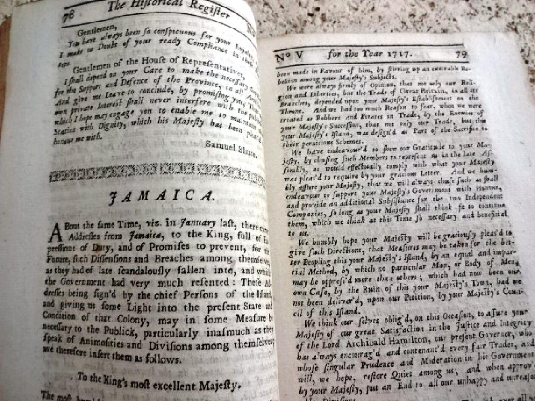 1717 Historical Register New-England Jamaica - 2