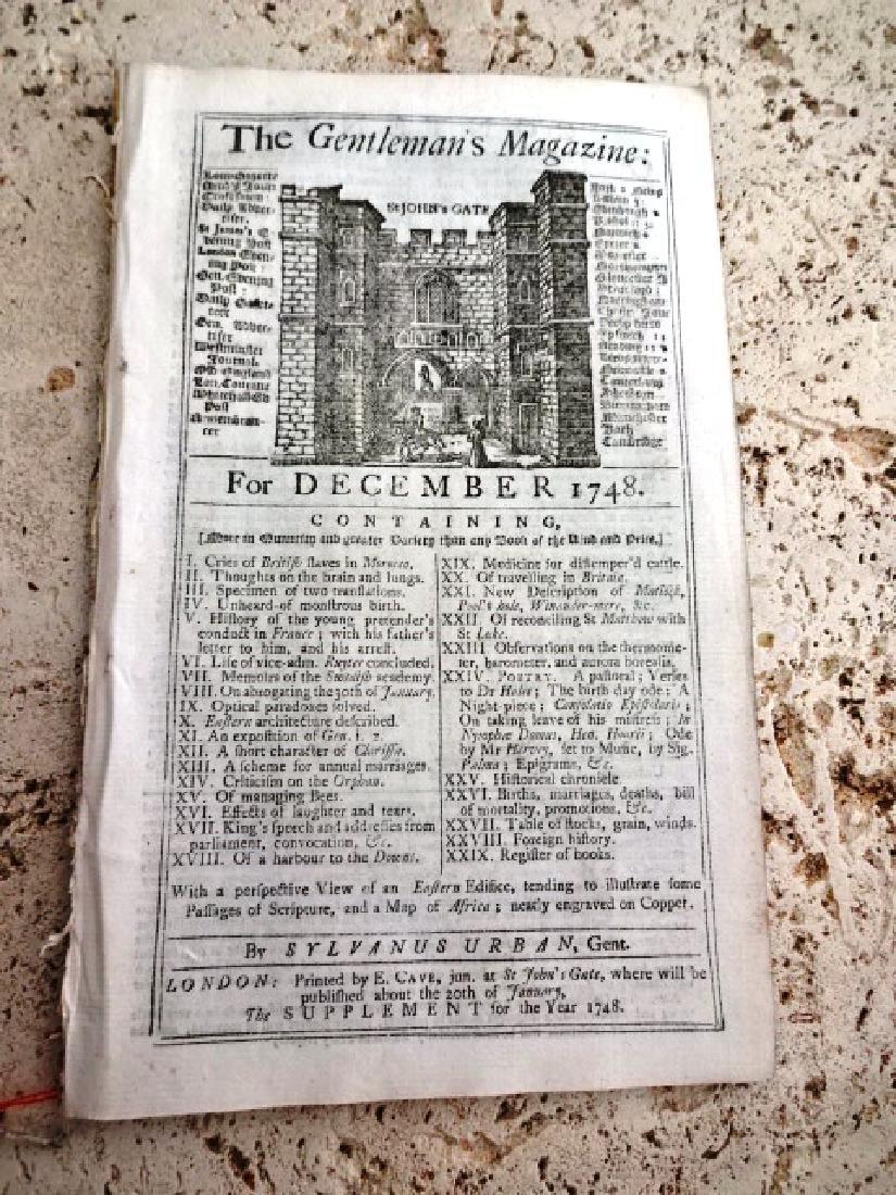 1758 Magazine Engraving Shaw's Travels Morocco Slaves - 3