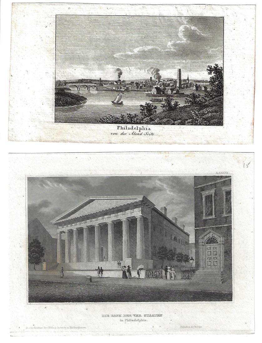 Mid-19th C Engravings Philadelphia