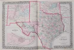 1878 Mitchell County Map of Texas