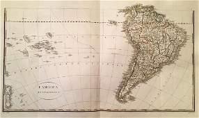 Rossi: Antique Map of South America / Oceania, 1821