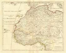 de l'Isle: Antique Map of West Africa, 1745