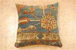 Highly Detailed Fine Antique Rug Wool Pillow 1.4x1.5