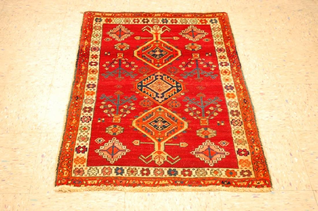 Vintage Persian Heriz Serapi Bakhshayesh Rug 2.4x4