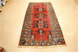 Vintage Caucasian Eagle Kazak Design Rug 3.10x10.6