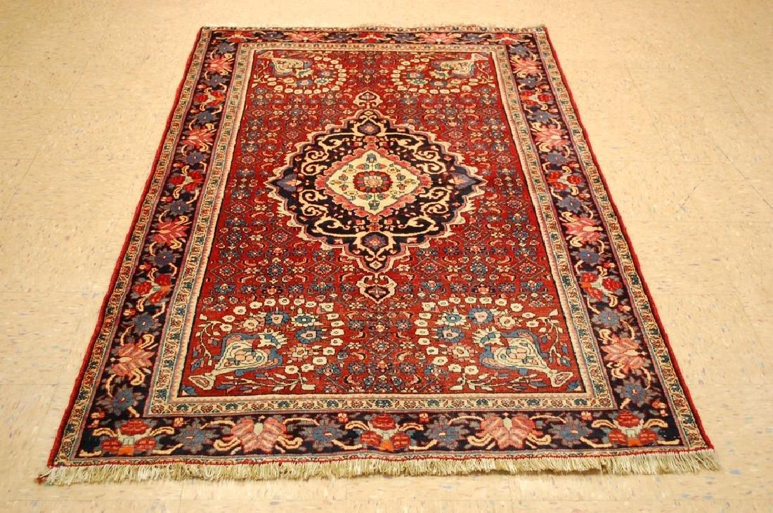 Vintage Detailed High Kpsi Persian Bijar Rug 4.2x6.8