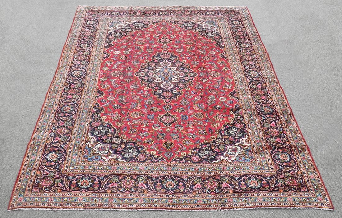 Detailed Semi Antique Persian Kashan Rug 9.5x12.9