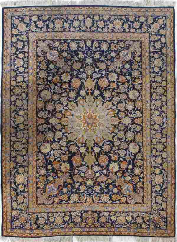 Semi Antique Persian Kashan Rug 7.1x9.6