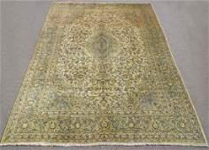 Detailed Floral Semi Antique Persian Kashan Rug 14x10.9