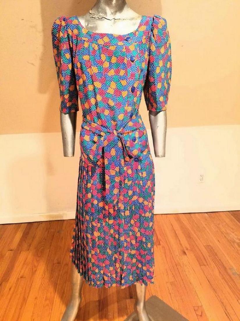 Vintage Givenchy Paris Nouvelle Boutique silk wiggle