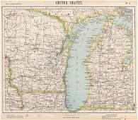 LAKE MICHIGAN. Wisconsin Michigan Chicago. Railroads