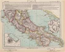 CENTRAL ITALY. Campania Umbria. British consulates
