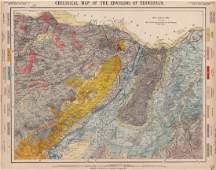 Geological map of the Environs of Edinburgh. Scotland.