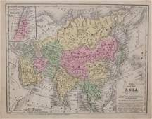1849 Mitchell Map of Asia - Map of Asia