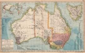 AUSTRALIA. White=unexplored. Violet & green=best sheep