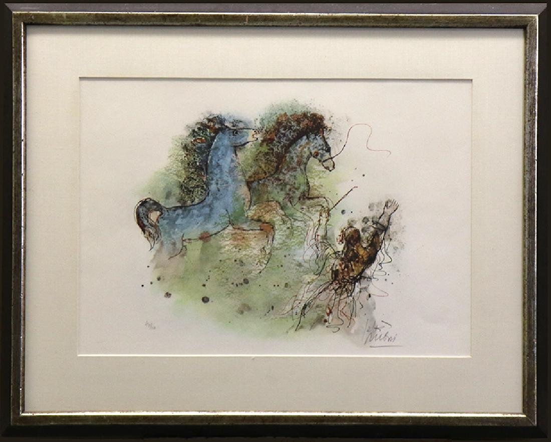 Horses by Reuven Rubin (Limited Edition Lithograph)