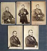 Collection of General US Grant Schuyler Colfax CDVs
