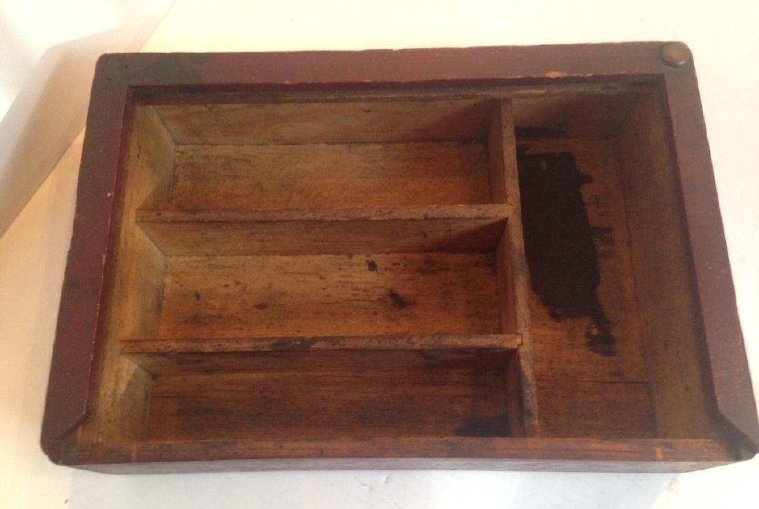 Folk Art Painted Shoeshine Box 1900c - 4