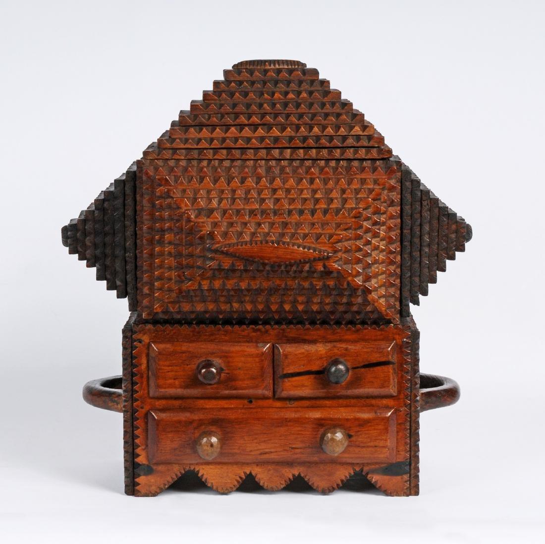 "Prisioner Artist ""Gus"" Wynn's Tramp Art Box"