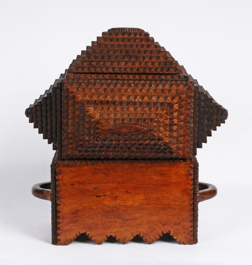 "Prisioner Artist ""Gus"" Wynn's Tramp Art Box - 5"