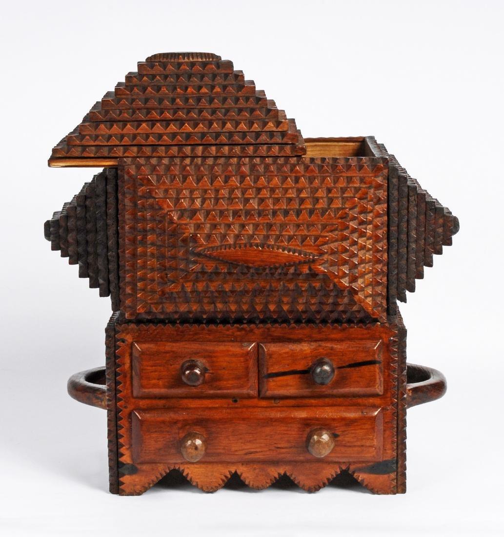 "Prisioner Artist ""Gus"" Wynn's Tramp Art Box - 6"