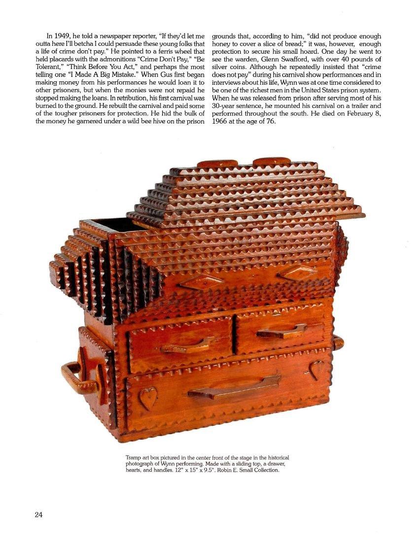 "Prisioner Artist ""Gus"" Wynn's Tramp Art Box - 8"