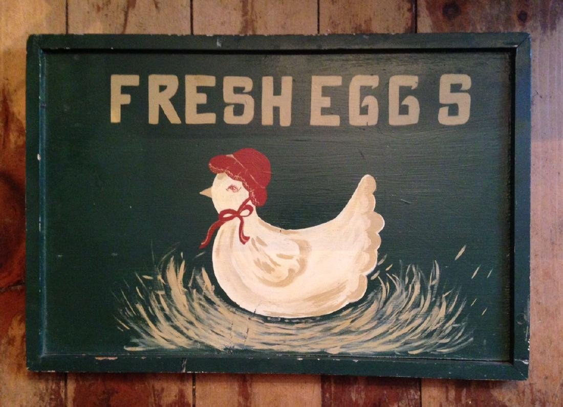 1950 Fresh Eggss Sign