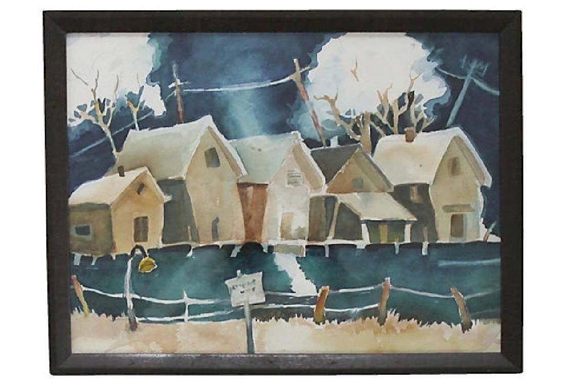 Houses Watercolor