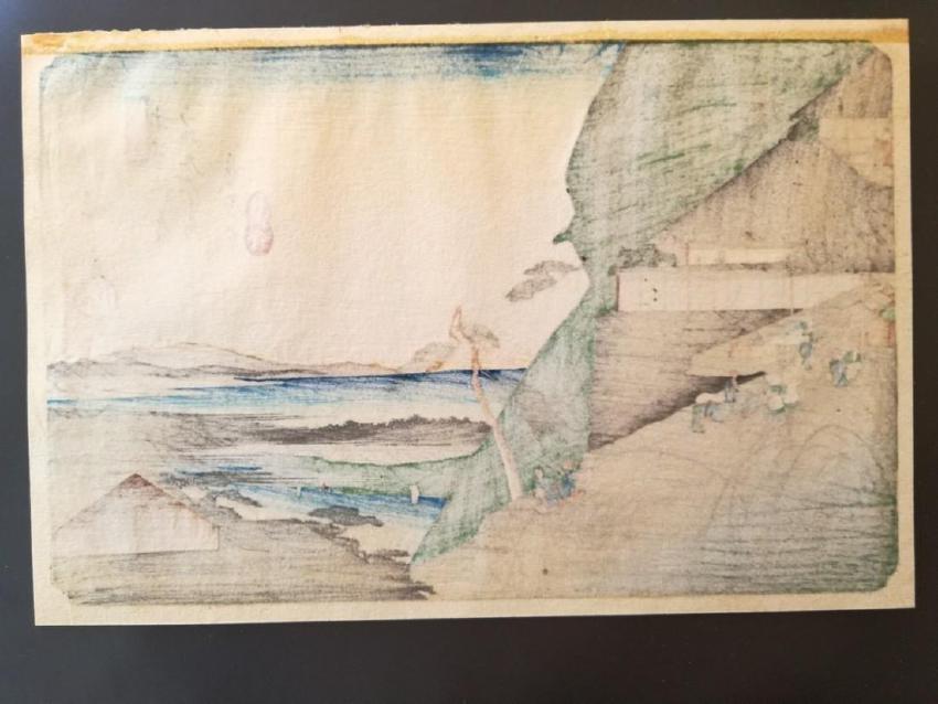 Ando Hiroshige Woodblock Toriimoto-Station 44 - 2