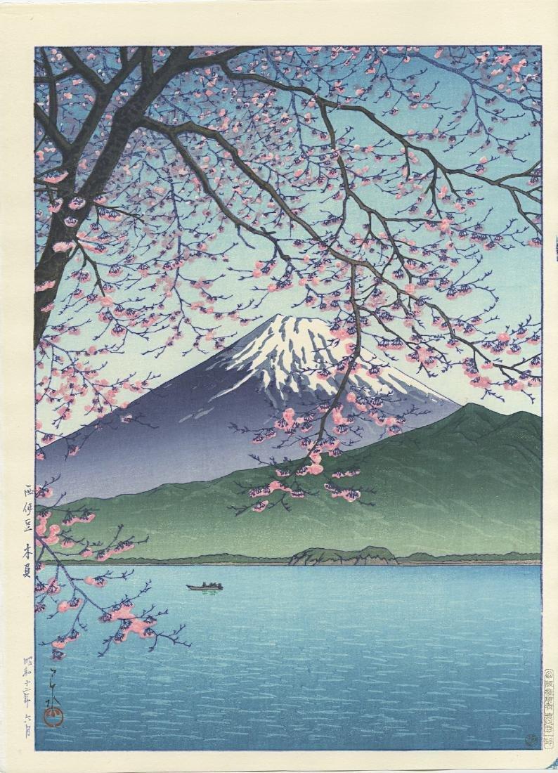 Hasui Kawase Woodblock Mt Fuji from Kisshio