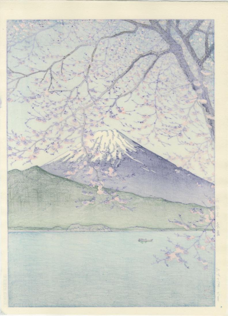 Hasui Kawase Woodblock Mt Fuji from Kisshio - 2